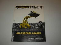 Pettibone Cary Lift Sales & Specifications Brochure - The Cary Lift Story
