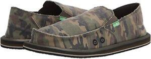 Men's Shoes Sanuk VAGABOND CAMO Slip On Canvas Sidewalk Surfers 1112770 WOODLAND