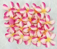 50 Fabric 6cm FRANGIPANIS Craft/Wedding/Hair Decoration/Table Scatter  Pink Tone