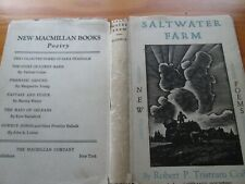 "Coffin,Robert P Tristram,""Saltwater Farm"" first edition and 2 signed letters"