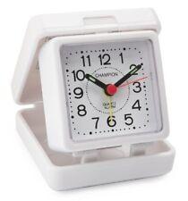 Reloj Despertador Champion Mesa Plegable De Viaje Blanco pequeñas tradicionales Luminoso básica