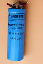 Sprague powerlitic tipo 36D 140uF 450 V DC Condensatore