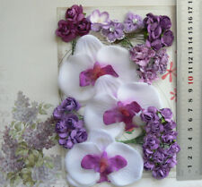 FRANGIPANI & ROSES - ORCHID PLUM - 33Flowers 15-80mm 5Styles PAPER & SILK VE3 MH