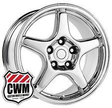 "OE Performance 103C 17 inch 17x9.5"" Corvette C4 ZR1 Wheels Rims Chrome 1988-1996"
