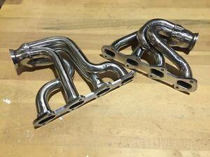FOR Ford Mustang 281 Twin Turbo Headers 4v 4valve cobra V8 4.6L SALEEN GT SHELBY