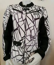 Shift Envy Motorcycle Riding Jacket Womens L Armored Full Zip Storm Lining Black