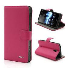 Bolso carta funda protectora flip cover case para Sony Xperia T lt30p, rosa uni pi8
