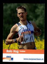 Reto Hug Autogrammkarte Original Signiert Triathlon + A 134039