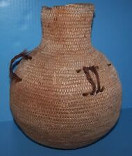 PAIUTE / NAVAJO Native American Indian basket WATER JUG w/ HORSE HAIR 1700-1800