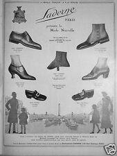 PUBLICITÉ 1924 GUÊTRE SOULIER SADERNE PRÉSENTE LA MODE NOUVELLE - ADVERTISING