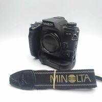 [ Near MINT ] Minolta α-7 a7  Maxxum Dynax alpha 7 35mm SLR with VC-7 Grip JAPAN