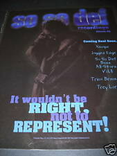SO SO DEF Records ATLANTA. GA 1997 Promo Poster Ad MINT