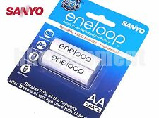 Sanyo eneloop Rechargeable AA Pre-Charged HR-3UTGB 1800 Cycles Battery x2