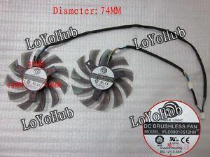 For MSI R6790 N560GTX R6850 N460GTX Video Card Fan Power Logic PLD08010S12HH