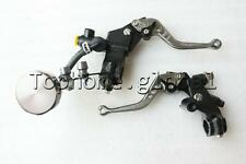 "7/8"" Front Brake Master Cylinder & Cable Clutch Perch W/ Levers Fluid Reservoir"