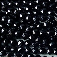 """10MM BLACK ONYX FACETED ROUND BEADS 15.75"""" STRAND"""