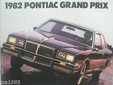 1982 Pontiac GRAND PRIX Brochure / Catalog / Pamphlet : LJ,BROUGH