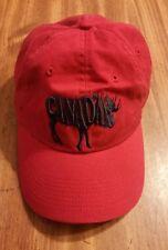 Canada Moose Red Baseball Cap Hat Adjustable Canadian Pride Cotton