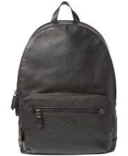 New Men's Polo Ralph Lauren Black Genuine Pebbled Leather Backpack Bag Briefcase