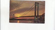 BF26850 the verrazano narrows bridge new york staten islan  USA front/back image
