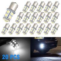 20pcs White 1156 RV Camper Trailer 13 SMD LED 1141 1003 Interior Light Bulbs