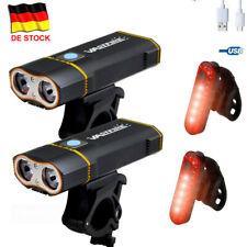 Super Hell 6000LM 2x XM-L2 LED Fahrradlampe Fahrradbeleuchtung Fahrrad Rücklicht