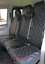 FORD TRANSIT CUSTOM Heavy Duty Luxury MAJESTIC Leather Look Van Seat Covers 2+1