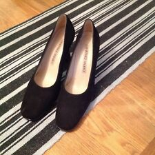 Martinez Valero black Suede court Shoes, Vgc, Worn Once, Size Uk 6