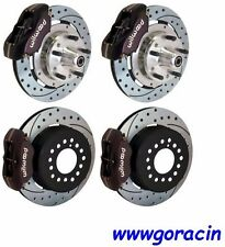 WILWOOD DISC BRAKE KIT,COMPLETE,1964-1972 CHEVELLE,BLACK,Drilled Rotors,Chevy