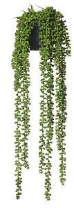 Rogue Hanging Pearls-Garden Pot Green/Black 17x17x63cm