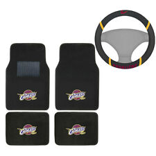New NBA Cleveland Cavaliers Car Truck Carpet Floor Mats & Steering Wheel Cover