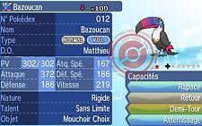 ★ Shiny Bazoucan / Toucannon ★ 6 IV Strat Pokemon Soleil / Sun Lune / Moon