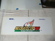 "snk original Neo Cup 98 26 1/4-9 1/2"" Neo Geo Arcade Game sign marquee cF89"