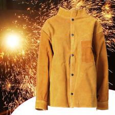 70cm M Size Cowhide Split Leather Welders Jacket Protective Clothing Welding
