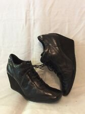No Name Black Ankle Leather Boots Size 41