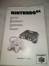 Nintendo 64 instruction booklet