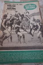 1974 VFL FOOTBALL RECORD CARLTON v GEELONG RD13