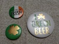 "Irish St Patrick's Day Clover Cute 1"" Pinback Button Pins Badge party favor Lot"