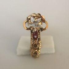 14Kt Real Yellow Gold Stud Nose Pin Engagement Piercing Bone Ring 20 Gauge 20g
