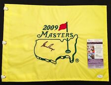 3 Time Masters Champion GARY PLAYER Signed 2009 Masters Flag JSA Authenticated