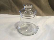 "4 1/2"" Mini Bell Shape Glass Apothecary Style 2 pc Jar Hollow Knob Lid"