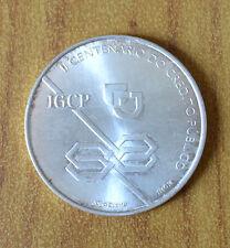 MONETA 1000 ESCUDOS REPUBLICA PORTUGUESA CENTENARIO 1997 ARGENTO 500 SUBALPINA