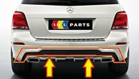 NEW GENUINE MERCEDES BENZ MB GLK X204 FACELIFT AMG REAR BUMPER TRIM COVER BLACK