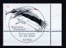 BRD 2004 gestempelt ESST Berlin Eckrand MiNr. 2393 Bedrohte Tierarten Weißstorch