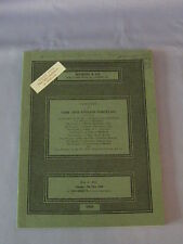 Vintage Sotheby Very Fine English Porcelain Catalog With Price List May 1968