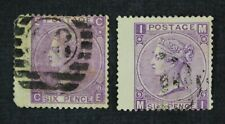 CKStamps: Great Britain Stamps Collection Scott#51 Victoria Used P#8 Crease P#9