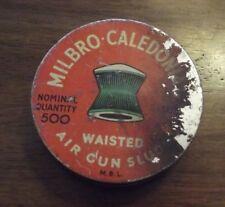 Empty Vintage MILBRO CALEDONIAN Air Gun Slug Tin