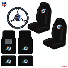 NFL Miami Dolphins Car Truck Seat Covers Floor Mats Steering Wheel Cover