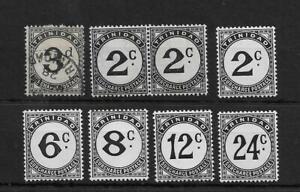 (6) Trinidad 1925 & 1947 dues (8v)