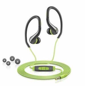 Sennheiser OCX 684i Ear Canal Sports Headphone - Black/Green for iPhone